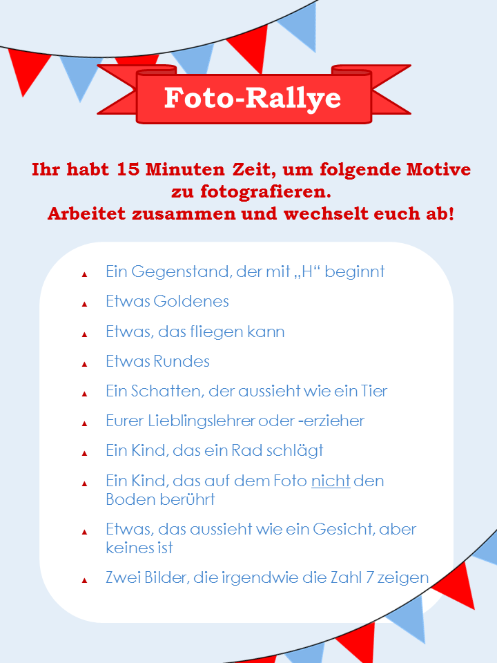 Foto Rallye Kindergeburtstag Schule Kinder 14